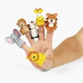 Jungle Animal Finger Puppets ~ 6 animal Designs